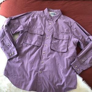 Exofficio insectshield grape long sleeve button up
